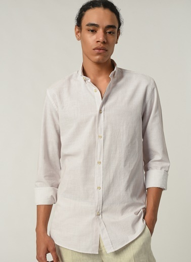 People By Fabrika Erkek Düğmeli Yaka  Gömlek PFESS21GM0005 Beyaz